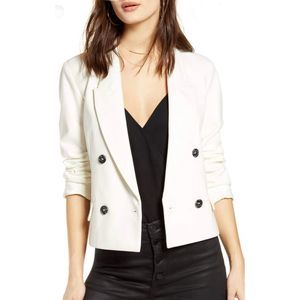 Blank NYC  Double Breasted Crop Jacket XXL